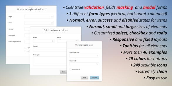 Pure CSS3 forms set validation masking