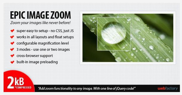 Epic Image Zoom jQuery Plugin