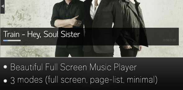 Fullscreen Music Player