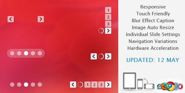 Translucent jQuery Banner Slideshow Plugin